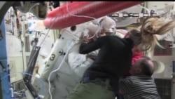 2013-07-17 美國之音視頻新聞: 宇航員因頭盔漏水縮短太空漫步任務