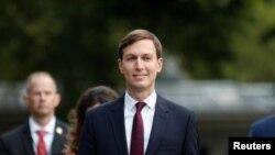 Penasihat Senior Gedung Putih Jared Kushner di North Lawn, Gedung Putih, Washington, 15 September 2020.
