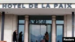 Hotel de la Paix di Lausanne, Swiss, lokasi pertemuan para pemimpin oposisi Suriah (27/1)