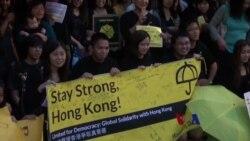 华盛顿集会声援香港人争取普选
