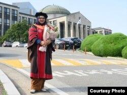 Elvira Fidelia Tanjung, lulusan S3 dan peneliti di Kyungpook National University di Daegu, Korea Selatan (dok: pribadi)