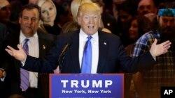 Donald Trump se mostró confiado de que ya es inalcanzable en la carrera por la nominación republicana.