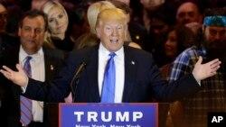 دونالد ترمپ تا کنون در میان نامزدان جمهوریخواه پیشتاز است.
