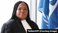 Umushikirizamanza mukuru wa sentare mpuzamakungu mpanavyaha (CPI) Fatou Bensouda i La Haye, itariki 8/04/2018.