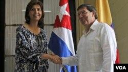 La ministra de Relaciones Exteriores de Colombia entregó un balance donde habló de su reciente visita a Cuba.