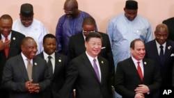 肯尼亞總統肯雅塔2018年(右)在中非合作論壇北京峰會上。