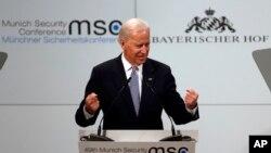 美国副总统拜登2月2日在慕尼黑安全会议上谈到伊朗核项目