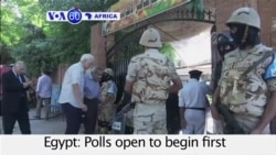 VOA60 Africa - Egypt: Polls open to begin first round of long-delayed parliamentary elections