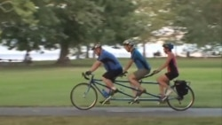 시각장애인과 함께하는 자전거 타기