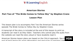 Lesson Plan - Bride Comes to Yellow Sky