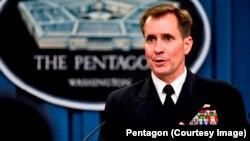 Juru bicara Pentagon John Kirby menjelaskan pengiriman 150 pasukan udara AS ke Polandia dan Baltik (foto: dok).