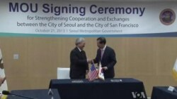 Seoul, San Francisco Mayors Sign MOU to Increase Ties