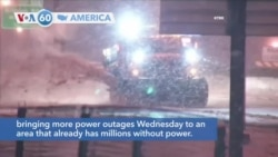 VOA60 America - A second winter storm has struck parts of the south central U.S.