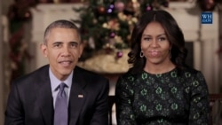 President Obama, First Lady Give Christmas, Holiday Wishes