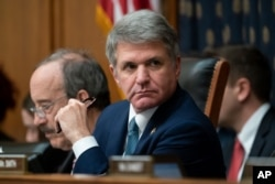FILE - Rep. Michael McCaul, R-Texas, attends a hearing on Capitol Hill in Washington, Oct. 23, 2019.