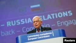 Жозеф Борель, верховний представник Європейського Союзу з питань зовнішньої політики та безпеки. Брюссель 16 червня 2021 р.