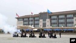 한국 평택 캠프 험프리스의 주한미군사령부.
