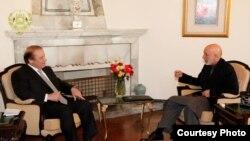 nawaz sharif meeting with hamid karzai in kabul