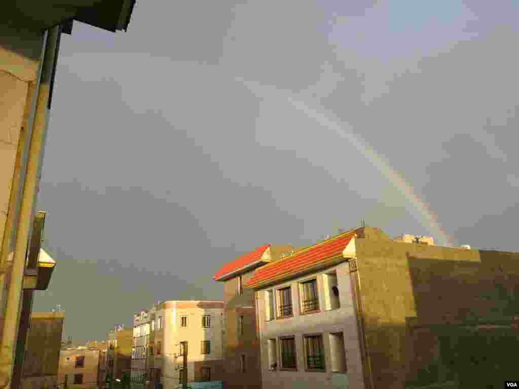 رنگین کمان در آسمان شهریار عکس: مسعود افشاری (ارسالی شما)