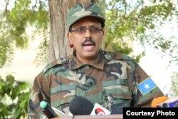 Somali's president, Mohamed Abdullahi Mohamed, declared war on al-Shabab militants Thursday. (Photo courtesy of the Somali president's office)