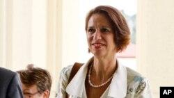 မွတ္တမ္းဓါတ္ပံု- ၂၀၁၈ဇန္လတုန္းက ကုလ အထူးကိုယ္စားလွယ္ Christine Schraner Burgener ေနျပည္ေတာ္ကို ေရာက္ရွိစဥ္