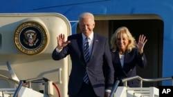Joe Biden e primeira dama Jill Biden enbarcam em direcção ao Reino Unido, 9 de Junho de 2021