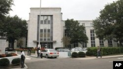 A car pulls into the Saudi Arabian embassy in Washington, D.C., Oct. 11, 2011 (file photo).