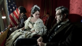 "Sally Field and Daniel Day Lews are both nominated for their work in the movie ""Lincoln"""
