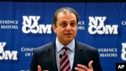 FILE - U.S. Attorney Preet Bharara. Bharara became somewhat of a celebrity on Twitter after posting a message about Zarrab's arrest.