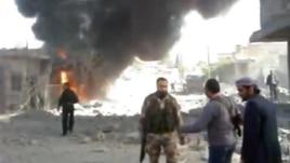 Թուրքիայի հետ սահմանամերձ՝ ապստամբների կողմից վերահսկվող Ռաս ալ-Այն քաղաքի ուղղությամբ նոյեմբերի 12-ին իրականցված օդային հարվածի հետևանքները