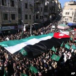 Une des manifestations qui ont secoué Amman ces dernières semaines