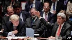 Američki državni sekretar Džon Keri govori u Savetu bezbednosti Ujedinjenih nacija