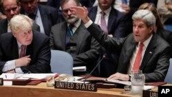 Kerry dijo al Consejo de Seguridad de Naciones Unidas que una medida así podría restaurar la credibilidad en los esfuerzos para poner fin a la guerra civil en Siria.