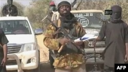 FILE - Boko Haram leader Abubakar Shekau appears in a video image obtained by AFP in January.