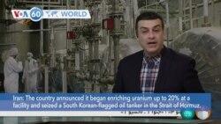 VOA60 World - Iran announced it began enriching uranium up to 20%