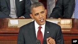 Rais Barack Obama katika moja ya hotuba zake zilizopita za hali ya kitaifa.