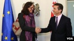 ევროკომისარ მალმსტრომისა და პრემიერ ივანიშვილის შეხვედრა თბილისში
