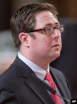 FILE - Nebraska Speaker of the Legislature Sen. Mike Flood of Norfolk follows debate in the legislature, April 18, 2012.