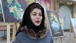 نخستین نمایشگاه خیابانی نقاشی در مزارشریف