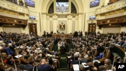 Sidang Parlemen Mesir di Kairo, Mesir, 13 Februari 2019. (Foto: dok).