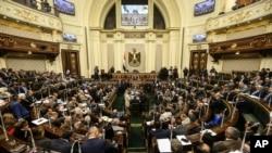 Suasana sidang parlemen Mesir di Kairo. (Foto: dok).