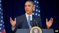美國總統奧巴馬周一在國務院出席了美國駐外使團負責人會議。