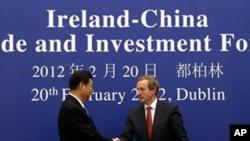 中國國家副主席習近平星期一在都柏林和愛爾蘭總理肯尼會晤