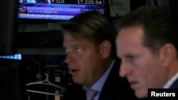 Sàn chứng khoán New York (NYSE) ngày 27 tháng 6, 2016.