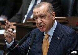 Cumhurbaşkanı Recep Tayyip Erdogan, partisinin grup toplantısında konuştu.