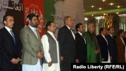 عکس آرشیف: رهبران سیاسی و مقامات حکومتی در جریان اعلام ائتلاف انتخاباتی