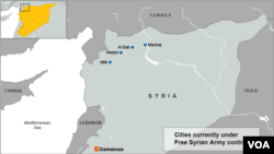 Northwestern Syria Rebel Controlled Areas