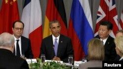 美國總統奧巴馬與中國國家主席習近平2016年4月1日舉行會晤時資料照。