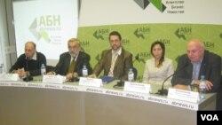 Участники пресс-конференции