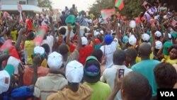 Comício de campanha da UNITA em 2012